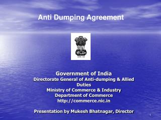 Government of India Directorate General of Anti-dumping  Allied Duties Ministry of Commerce  Industry Department of Comm