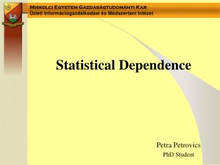 Statistical Dependence