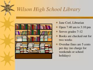 Wilson High School Library