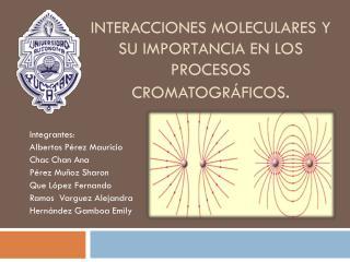 Interacciones moleculares y su importancia en los procesos cromatográficos .