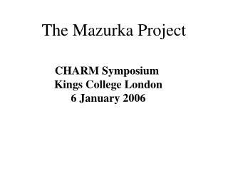 The Mazurka Project