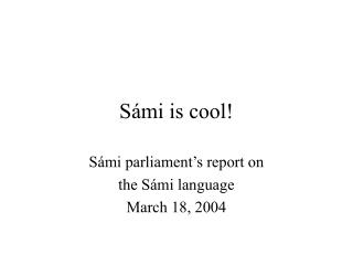 Sámi is cool!