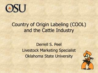 Country of Origin Labeling (COOL) and the Cattle Industry
