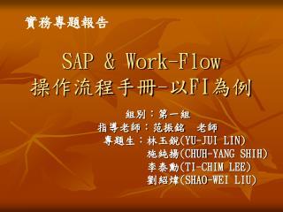 SAP & Work-Flow 操作流程手冊 - 以 FI 為例
