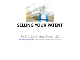 SELLING YOUR PATENT