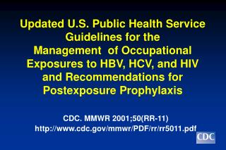 CDC. MMWR 2001;50(RR-11) cdc/mmwr/PDF/rr/rr5011.pdf