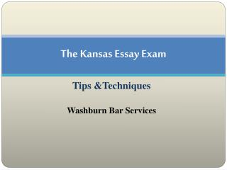 The Kansas Essay Exam