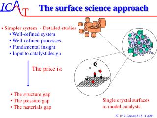 The surface science approach
