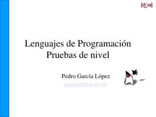 Lenguajes de Programación Pruebas de nivel