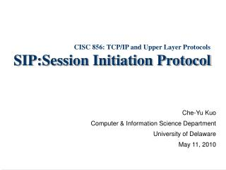 SIP:Session Initiation Protocol