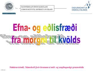 Efna- og eðlisfræði  frá morgni til kvölds