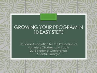 Growing Your program in 10 easy steps