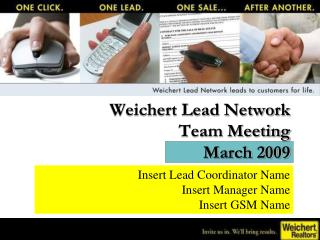 Weichert Lead Network  Team Meeting March 2009