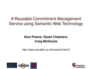 A Reusable Commitment Management Service using Semantic Web Technology