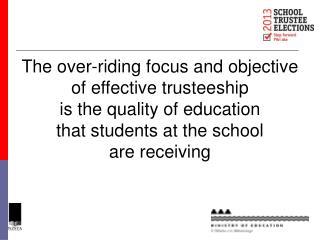 A Sneak Preview of Effective Trusteeship