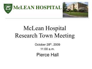 October 28 th , 2009 11:00 a.m.