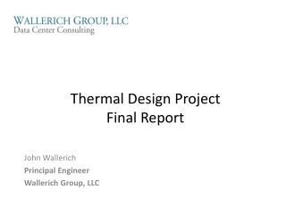 Thermal Design Project Final Report