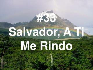 #33 Salvador, A Ti Me Rindo