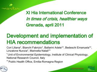 Development and implementation of HIA recommendations