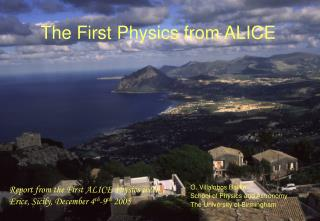 The First Physics from ALICE