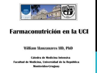 Farmaconutrición en la UCI