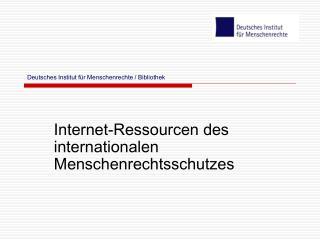 Deutsches Institut für Menschenrechte / Bibliothek