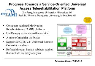 Progress Towards a Service-Oriented Universal Access Telerehabilitation Platform