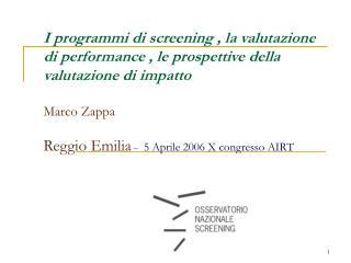 Programmi di screening  / Contesto Normativo