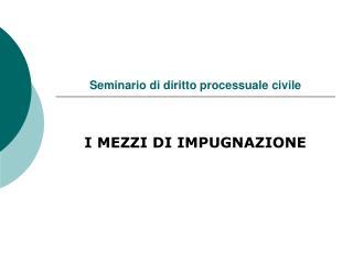 Seminario di diritto processuale civile