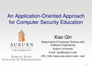An Application-Oriented Approach for Computer Security Education