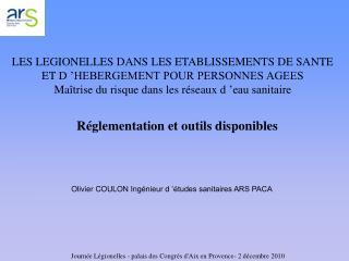 R�glementation et outils disponibles