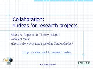 Collaboration: 4 ideas for research projects