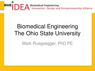 Biomedical Engineering The Ohio State University