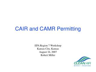 CAIR and CAMR Permitting