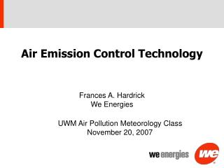 Air Emission Control Technology