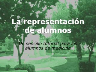 La representación de alumnos