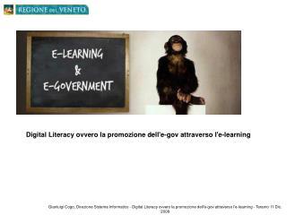 Digital Literacy ovvero la promozione dell'e-gov attraverso l'e-learning