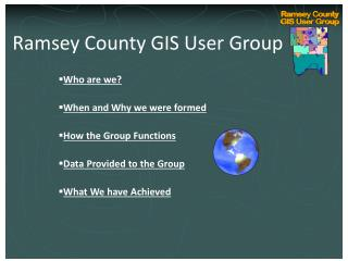 Ramsey County Internal GIS Technical User Group Kickoff