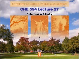 CHE 594 Lecture 27