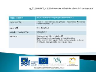Vy_32_INOVACE_M.1.01-Numerace v ?�seln�m oboru 1-5-prezentace
