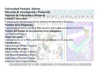 Universidad Nacional Abierta  Dirección de Investigación y Postgrado