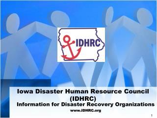 Iowa Disaster Human Resource Council (IDHRC)