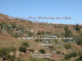 Southern Africa Workshop on Avian Influenza