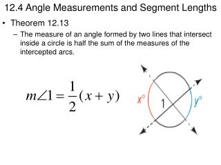 12.4 Angle Measurements and Segment Lengths