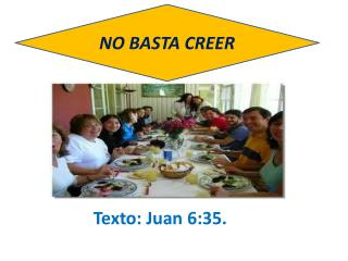 NO BASTA CREER