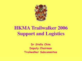 HKMA Trailwalker 2006 Support and Logistics