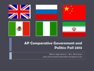 AP Comparative Government and Politics Fall 2013