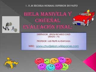 Biela manivela y cigüeñal  evaluación final: