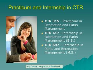 Practicum and Internship in CTR