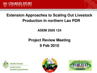 Extension Approaches to Scaling Out Livestock Production in northern Lao PDR  ASEM 2005 124